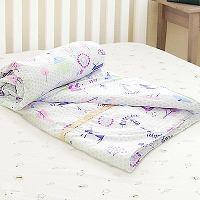 米夢家居-原創夢想家園系列-台灣製造100%精梳純棉兩用被套-白日夢-單人