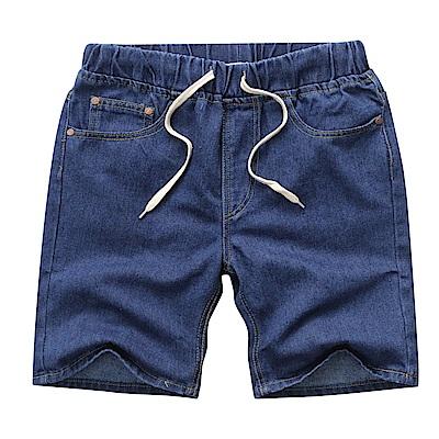 BuyGlasses 鬆緊綁帶單寧牛仔短褲