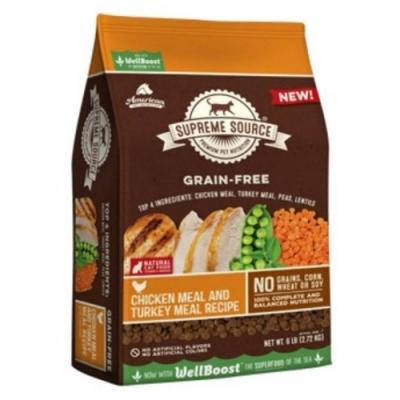 SUPREME SOURCE紐健士-無穀天然貓糧-雞肉+火雞+蔬果3lb/1.36kg-2包組