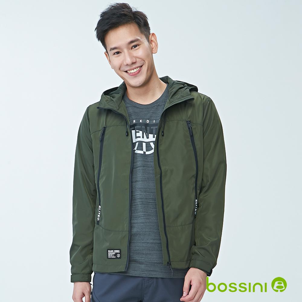 bossini男裝-連帽長袖防風外套02草綠