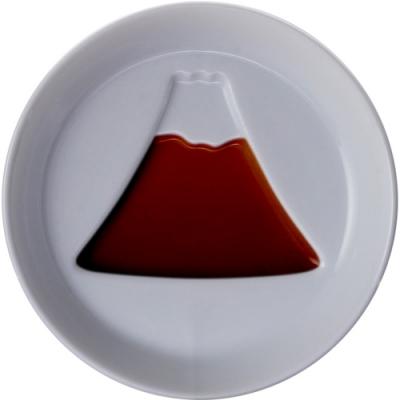 《Tokyo Design》浮雕白瓷醬料碟(富士山)