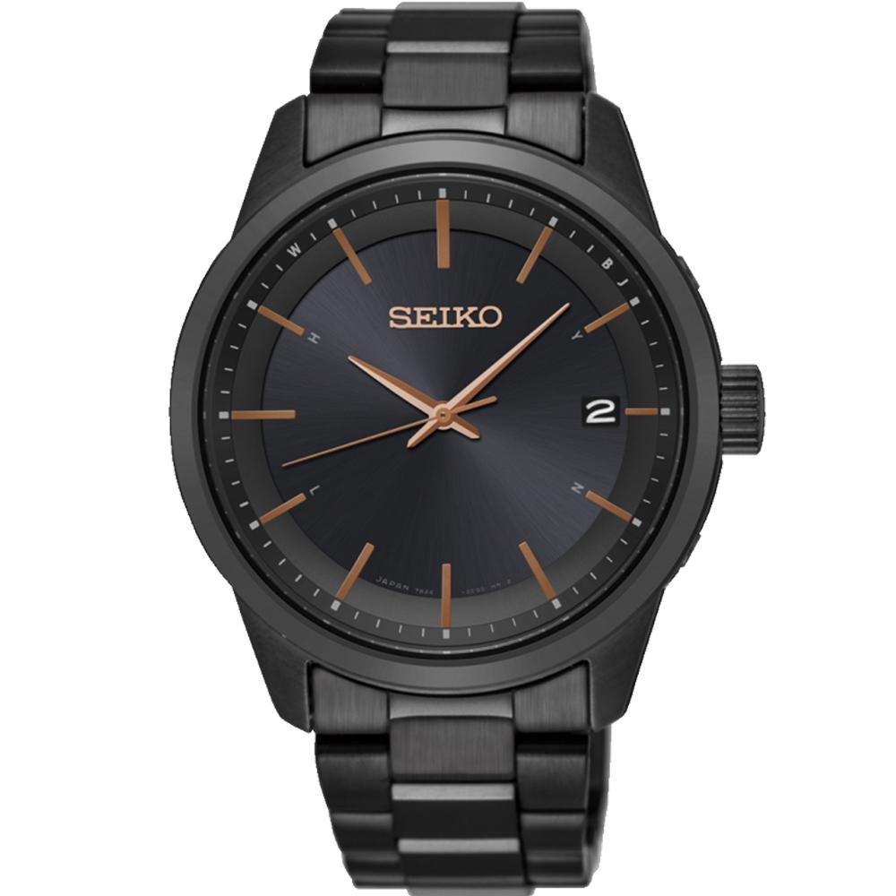 SEIKO Spirit 簡約時尚萬年曆太陽能電波腕錶 7B24-0BR0K