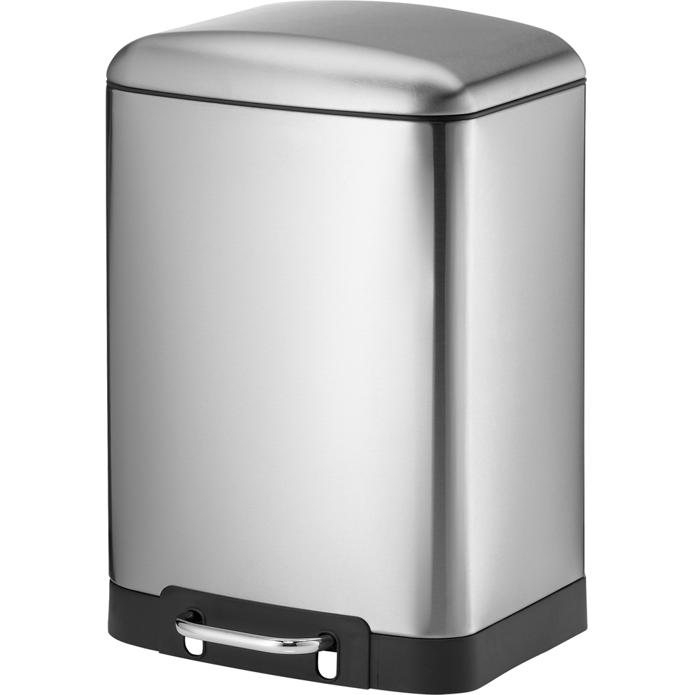 《KELA》Davino腳踏式垃圾桶(霧銀12L)