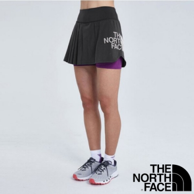 The North Face 女新款 TERRA METRO TRAINING 輕量越野跑步短褲_黑/紫 N