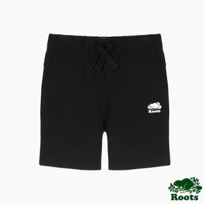 Roots小男童- 城市悠遊系列 口袋短褲-黑色