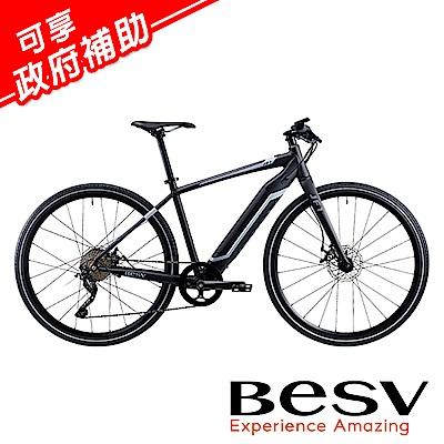 《BESV》JF1 平把公路車款智慧動能電動自行車E-BIKE 消光黑