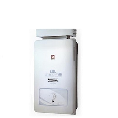 (全省安裝)櫻花12公升抗風熱水器桶裝瓦斯GH-1206L