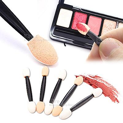 雙頭眼影棒 眼影刷新秘美容師專用化妝刷拋棄式海綿棒-超值50入贈唇刷kiret