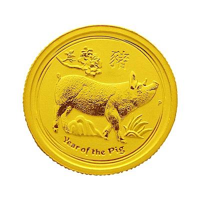 澳洲柏斯生肖紀念幣-澳洲2019豬年生肖金幣(1/4盎司)