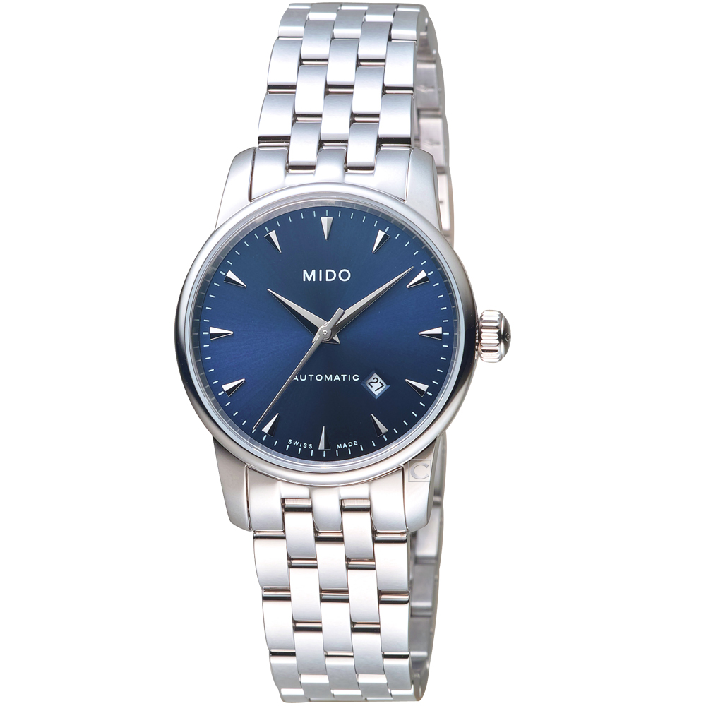 MIDO美度永恆系列午夜藍機械女錶(M76004151)-鋼帶