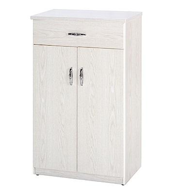 綠活居 阿爾斯環保2.2尺塑鋼二門單抽鞋櫃(二色可選)-65x37x112cm免組
