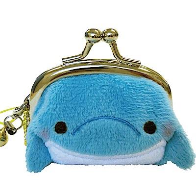 動物樂園迷你珠扣零錢包 。海豚君 UNIQUE