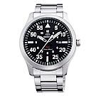 ORIENT東方SP飛行運動時尚手錶FUNG2001B-黑X銀/42mm