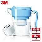 3M 即淨長效濾水壺WP3000-BL(晴空藍)(1壺+1濾心)
