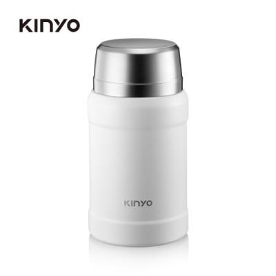 KINYO 316不鏽鋼真空燜燒罐(白)KIM48W