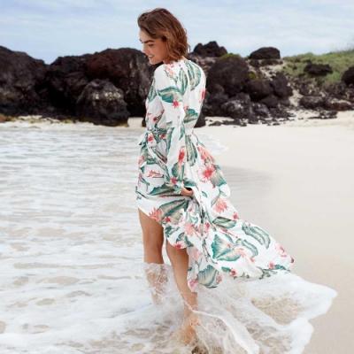 【ROXY】TASTE OF TOMORROW 絲質洋裝 白