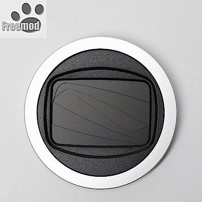 台灣製造Freemod半自動蓋X-CAP2含STC保護鏡的46mm鏡頭蓋Silver銀色