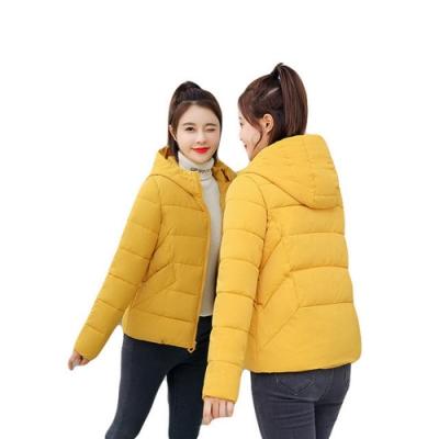 短款保暖休閒連帽羽絨棉外套S-3XL(共五色)-WHATDAY