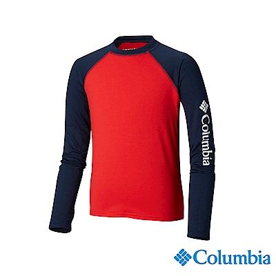 Columbia 哥倫比亞 兒童-UPF50快排長袖上衣-紅色UAY00170RD