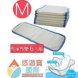 【悠遊寶國際】 MIT環保布尿布墊M(補充型尿片×6)