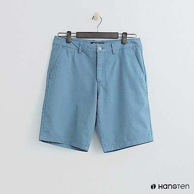 Hang Ten - 素色純面棉質短褲 - 藍