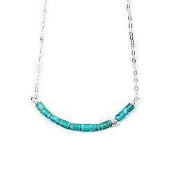 Pura Vida 美國手工 綠松石珠子墜飾銀色純銀項鍊