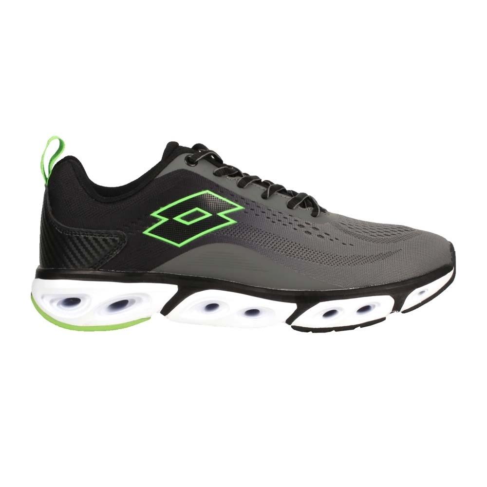 LOTTO 男風動慢跑鞋-路跑 運動 健走鞋 避震 透氣 LT0AMR2138 灰黑綠