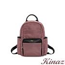 KINAZ casual 輕量防潑水手提後背包-迷霧粉紫-輕甜漫遊系列