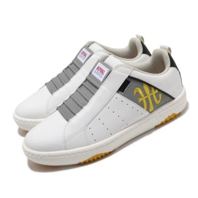 Royal Elastics 休閒鞋 Manhood 2.0 套腳 男鞋 基本款 套腳 舒適 簡約 皮革 球鞋 白 黃 06501083