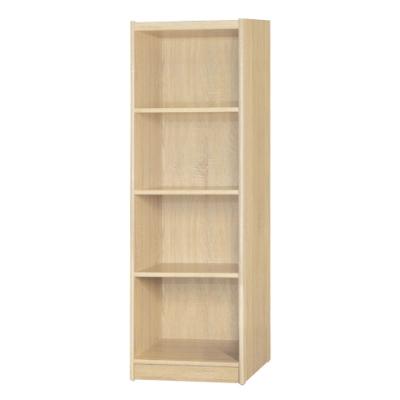 【綠活居】基斯坦   現代1.5尺四格書櫃/收納櫃(三色可選)-46x45x146cm免組