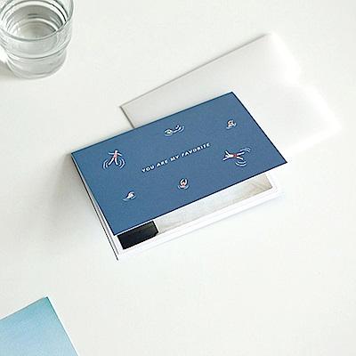Dailylike動物樂園4x6相本萬用卡-03游泳健將