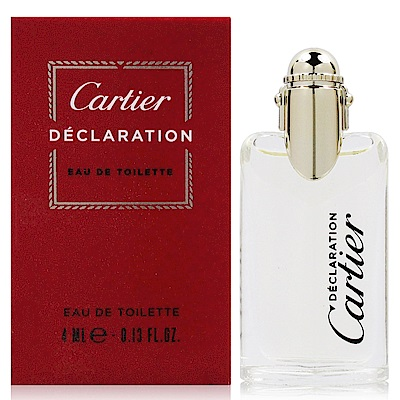 CARTIER 卡地亞 宣言男性淡香水 4ml (禮盒拆售 法國進口)