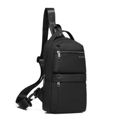 leaper 多功能USB充電休閒防水單肩包胸包 黑色