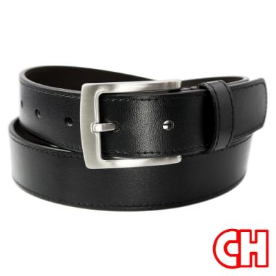 CH-BELT魅力黑時尚中性休閒百搭皮帶腰帶(黑)