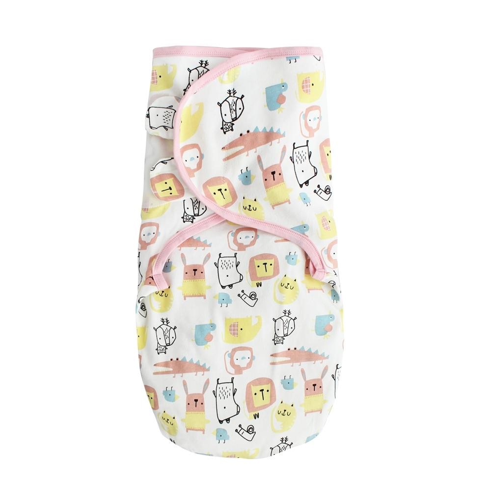 Baby童衣 嬰兒包巾 懶人包巾 新生兒用品滿版印花純棉寶寶包巾 60164