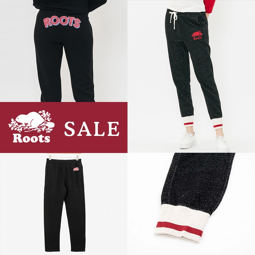 [時時樂限定]ROOTS女裝 刷毛休閒棉褲兩款選
