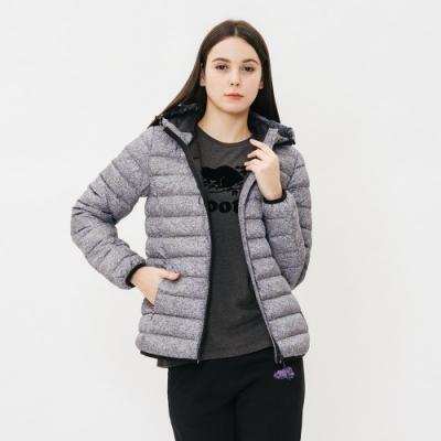 女裝ROOTS - 經典收納式羽絨外套-灰
