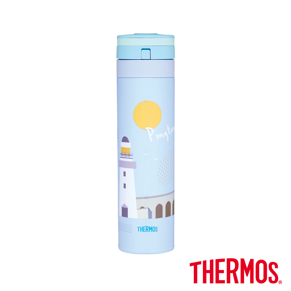 THERMOS膳魔師自動上鎖超輕量真空保溫瓶0.45L(JNS-450CT-PIF)