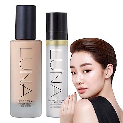 (即期品)韓國LUNA 完美遮瑕保濕粉底液#23自然40ml(送定妝噴霧50ml)