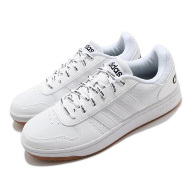 adidas 休閒鞋 Hoops 2 低筒 男鞋 愛迪達 麂皮 皮革 基本款 穿搭推薦 白 棕 FW4481