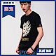 鬼洗 BLUE WAY 全台網路獨家- 印花鬼頭圓領T恤(黑) product thumbnail 1