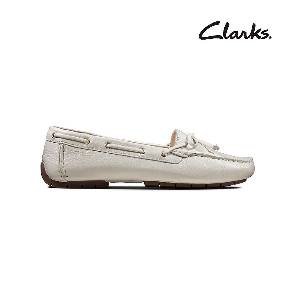 Clarks   純甄品味 C Mocc Boat  女平底鞋  白色   CLF49271SC20