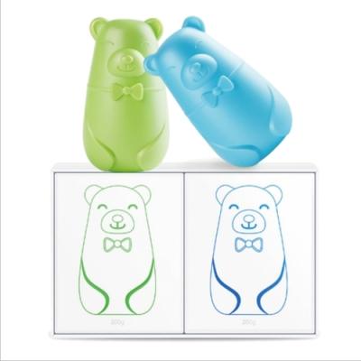 RENWELL 小熊造型馬桶除垢除味芳香劑4入(RW-05)
