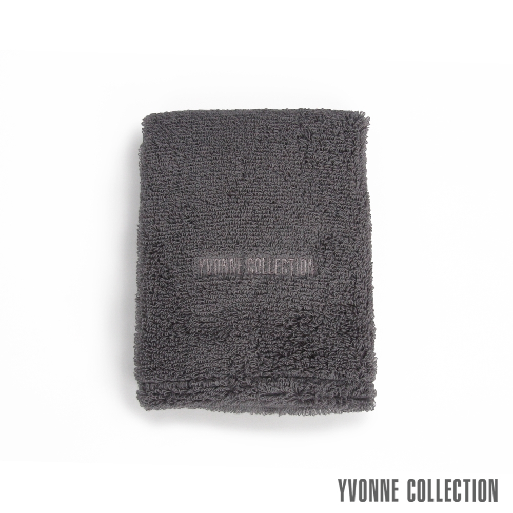 Yvonne Collection 棉柔小方巾-石墨灰