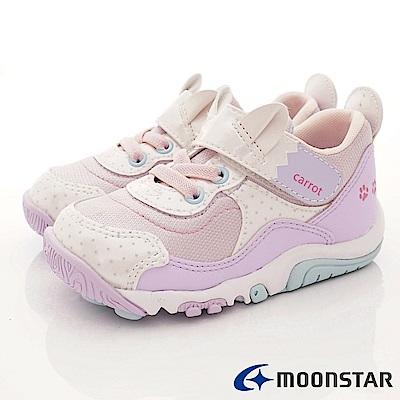 日本Carrot機能童鞋 速乾公園鞋款 TW2179紫粉(中小童段)