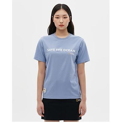 NATIONAL GEOGRAPHIC 男女 SAVE CAMPAIGN H/TEE 短袖T恤 天空藍-N212UTS150061