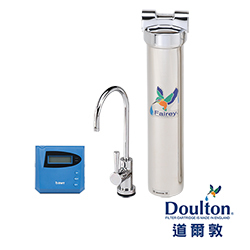 【DOULTON英國道爾敦】陶瓷濾芯顯示型單管不鏽鋼櫥下型淨水器(HIS-M12)