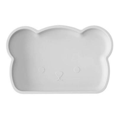 新加坡bopomofo 小熊矽膠餐盤-灰色