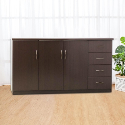 Boden-5.5尺三門四抽防水塑鋼收納櫃/置物櫃(四色可選)-164x43x81cm