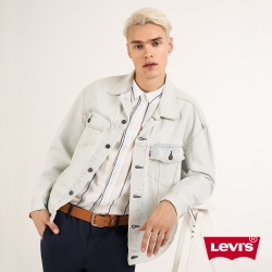 Levis 男款 牛仔外套 休閒版型 淺藍作舊 春夏形象款